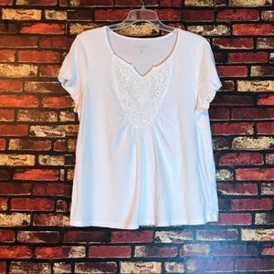 Large White Bandalino Studded T-shirt